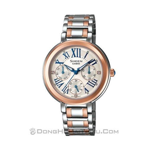 Búng tay là chọn được ngay đồng hồ casio giá rẻ nữ đẹp sp5 SHE-3034SG-7AUDR